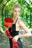 Fille avec un bouquet Photos libres de droits