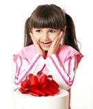 Fille avec un cadeau Image libre de droits
