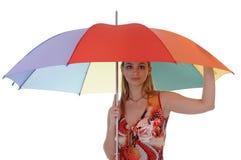 Fille avec un parapluie Image libre de droits