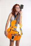fille avec une guitare Photo stock