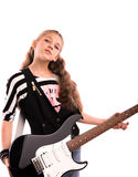 fille avec une guitare Photo libre de droits