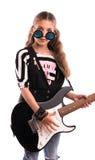 fille avec une guitare Photo stock