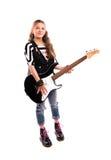 fille avec une guitare Photos libres de droits