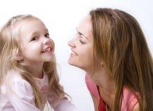 Fille avec une mère Photographie stock
