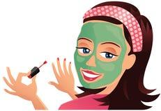 Fille ayant le masque protecteur illustration libre de droits