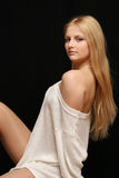 Fille blonde. photos stock