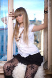 Fille blonde Images stock