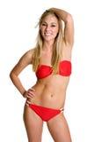 Fille blonde de bikini Images libres de droits