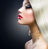 Fille blonde de mode photo stock