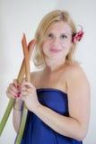 Fille blonde de sourire Photo libre de droits