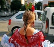 Fille blonde en Séville juste, Andalousie, Espagne Photos libres de droits
