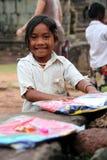 Fille cambodgienne heureuse Images libres de droits