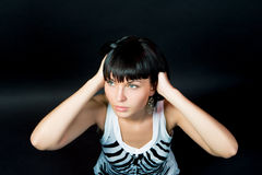 Fille caucasienne passionnée de slavic recherchant Images libres de droits