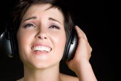 Fille chanteuse Photos libres de droits