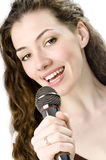 Fille chanteuse Images stock