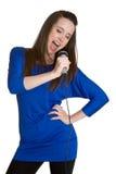 Fille chanteuse images libres de droits