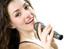 Fille chanteuse Image libre de droits
