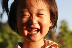 Fille chinoise heureuse Images libres de droits