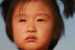 Fille chinoise mignonne en été Photos stock