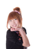 Fille chinoise sur un fond blanc Photos libres de droits