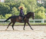 Fille conduisant un cheval Photo libre de droits