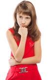 fille contrariée d'adolescent Image stock