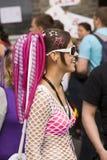 Fille costumée de raver au Love Parade 2010 Photographie stock libre de droits