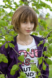 Fille créole d'adolescent image libre de droits