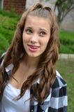 Fille créole d'adolescent photo libre de droits