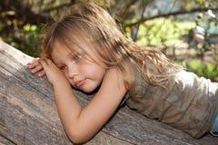 Fille déprimée Image stock