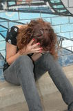 Fille déprimée photographie stock libre de droits