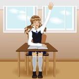 Fille d'école Images libres de droits