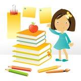 Fille d'école illustration libre de droits