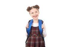 Fille d'école dans l'excitation images stock