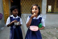 Fille d'école en Inde Image libre de droits
