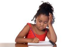 Fille d'école ennuyée images stock
