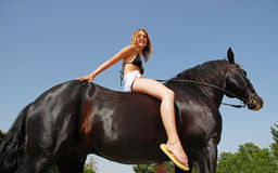 Fille d'équitation Photo libre de droits