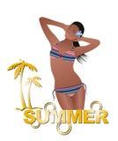 Fille d'été avec le bikini Photographie stock libre de droits