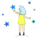 Fille d'étoile Images libres de droits