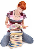 Fille d'étudiant de beauté avec le livre Image stock