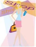 Fille d'achats Image libre de droits
