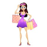 Fille d'achats Photographie stock
