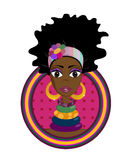 Fille d'Afro Image stock