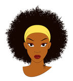 Fille d'Afro Illustration de Vecteur