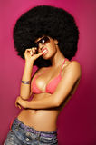 Fille d'Afro Photographie stock