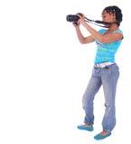 Fille d'Afro-américain prenant P Photographie stock libre de droits