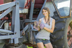 Fille d'agriculteurs Images stock