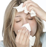 fille d'allergies Photographie stock