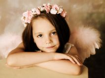 Fille d'ange Photographie stock