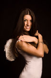 Fille d'ange Photo stock